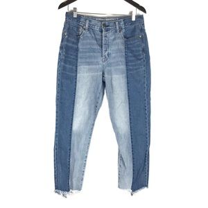 American Eagle Two Tone Vintage High Rise Jeans